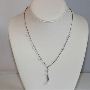 Sterling Silver Faceted Swarovski Crystal Necklace